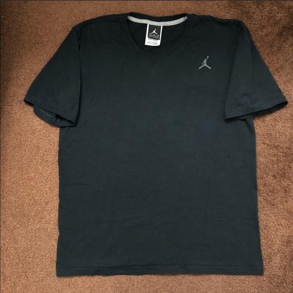 4aaf75a14cad Jordan Other - Nike x Jordan Medium V-Neck Black w Gray Jumpman